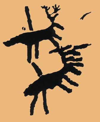 Les cerfs de pierre Escrite (Alpes de Haute Provence)